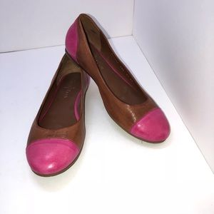 Cole Haan Pink And Brown Flat Size 7.5